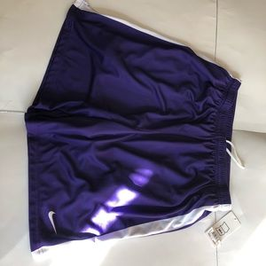 Nike purple soccer shorts